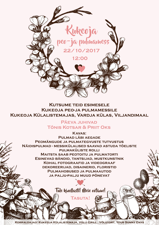 POSTER_kukeoja_peo&pulmamess_A3